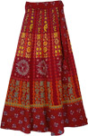 Yellow Monarch Ethnic Wrap Skirt