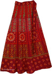 Verdigris Gypsy Ethnic Wrap Skirt