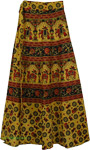 Mandalay Yellow Long Wrap Skirt