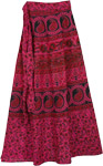 Maroon Flush Long Wrap Skirt