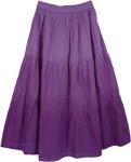 Bliss Cotton Purple Skirt