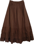 Chocolate Boho Tiered Skirt