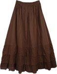 Chocolate Boho Tiered Skirt