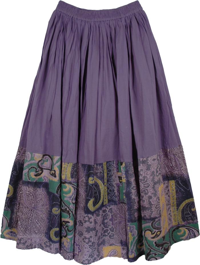 Smoky Purple Casual Long Skirt | Clearance | Sale|16.99|