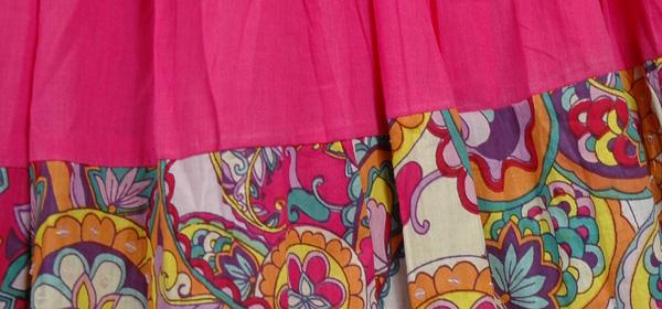 Savory Pink Casual Long Skirt