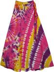 Cosmic Boho Tie Dye Wrap Long Cotton Skirt