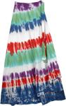 Flush Circles Tie Dye Wrap Long Skirt