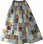 Bohemian Long Skirt Printed Patchwork
