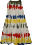 Color Splashes White Womens Skirt