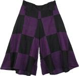 Purple Block Divided Skirt Pant