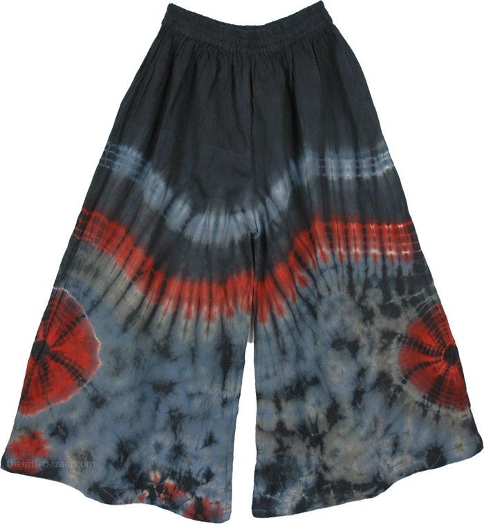 Tie Dye Colorful Pants, Ice Tantra Tie Dye Cotton Capris