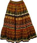 Boho Wilderness Cotton Print Long Skirt