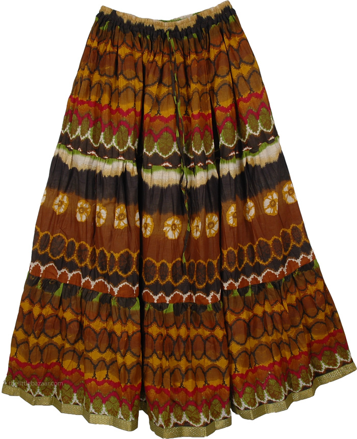 Boho Wilderness Cotton Print Skirt