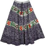 Grey Chic Summer Long Skirt