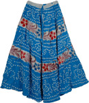 Blue Gypsy Long Tie Dye Skirt
