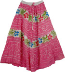 Pink Hippy Tie Dye Long Skirt