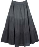 Nirvana Grey Cotton Skirt