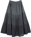 Nirvana Grey Cotton Skirt