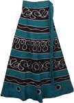 Bunker Blue Earth Wrap Skirt