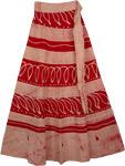 Sangria Cream Earth Wrap Skirt