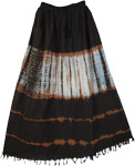 Carbon Flux Tie Dye Long Skirt