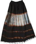 Carbon Flux Tie Dye Long Skirt