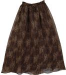 Choco Brown Fluffy Long Skirt [3139]