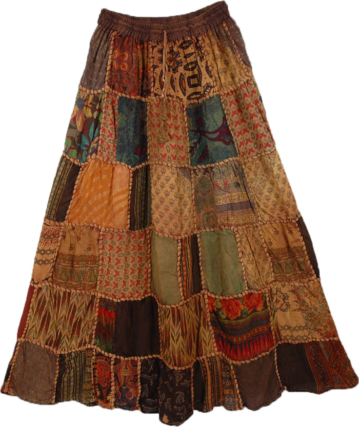 Paarl Panel Boho Skirt | patchwork