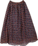 Boho Long Georgette Skirt