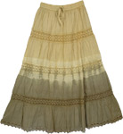 Beige Earthy Trendy Skirt