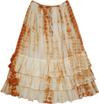 Scaler Brown Layered Skirt