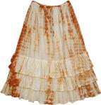 Scaler Brown Layered Skirt
