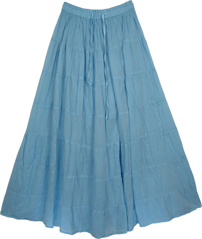 Blue Cotton Skirt 105