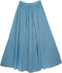 Blue Hues Bermuda Cotton Skirt