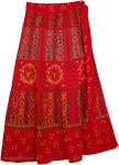 Monarch Ethnic Wrap Skirt