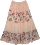 Cameo Floral Boho Skirt