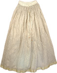 Golden Fern Crinkle Long Skirt