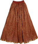 Burnt Umber Gold Skirt