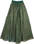 Bottle Green Firefly Sparkle Skirt