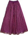 Grape Azure Gold Fashion Skirt