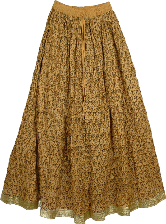Sandy Pattern Ethnic Long Skirt Clothing Sale On Bags