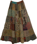 Gypsy Panel Boho Skirt