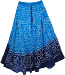 Blue Horizon Cotton Skirt