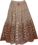 Brown Roman Fashion Skirt