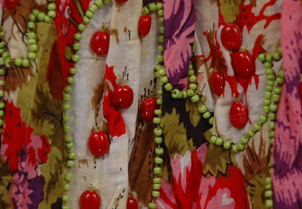Vintage Look Floral Mermaid Skirt with Beads