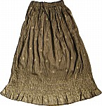 Ethnic Long Skirt in Shiny Brown