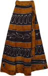 Cocoa Brown Wrap Long Skirt