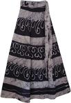 Dusty Blue Long Wrap Skirt