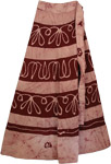 Heath Rose Long Wrap Ethnic Skirt