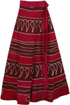 Pohutukawa Pink Long Wrap Skirt
